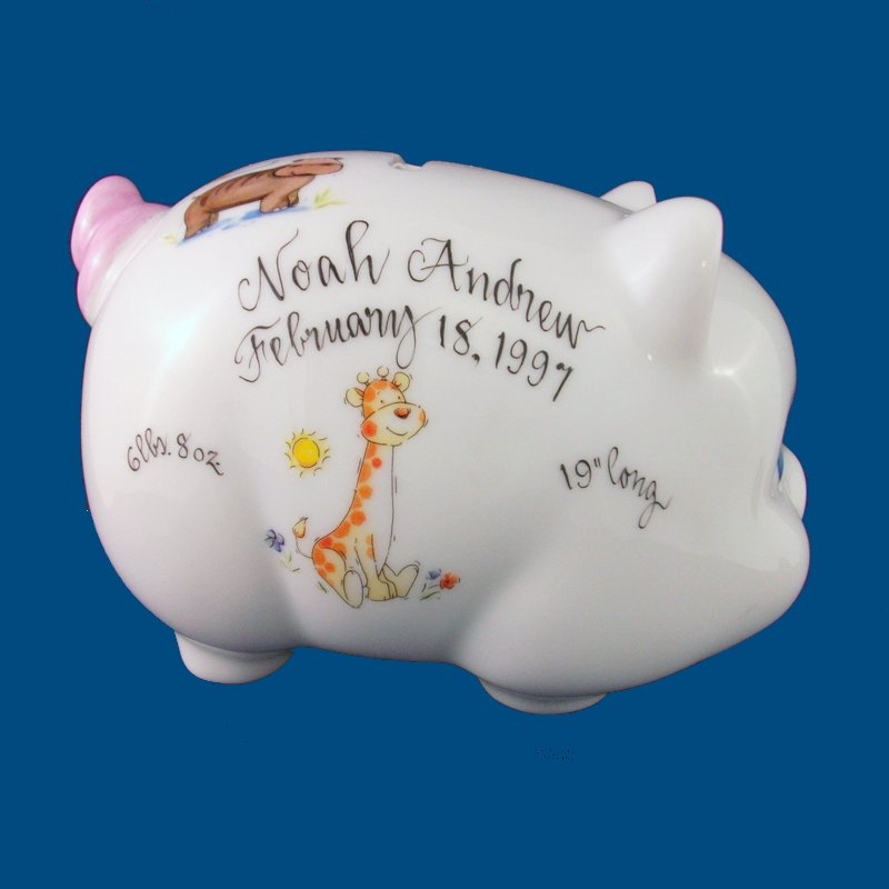 Baby Gift Piggy Bank : Personalized gifts baby piggy bank